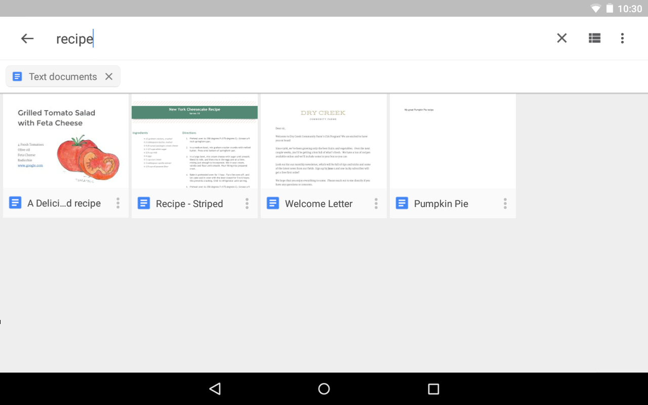 Android Google Drive Screen 3