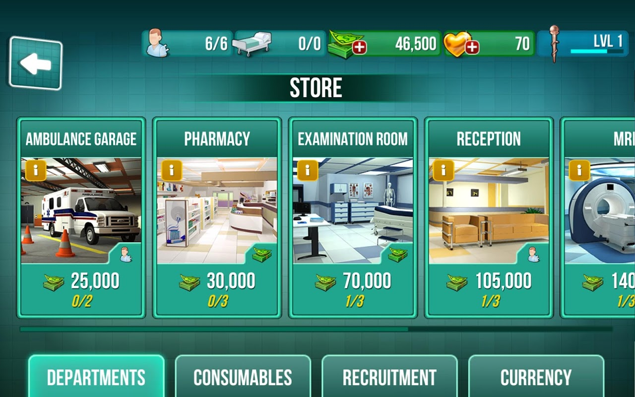 Operate Now: Hospital 1.18.4 Screen 1