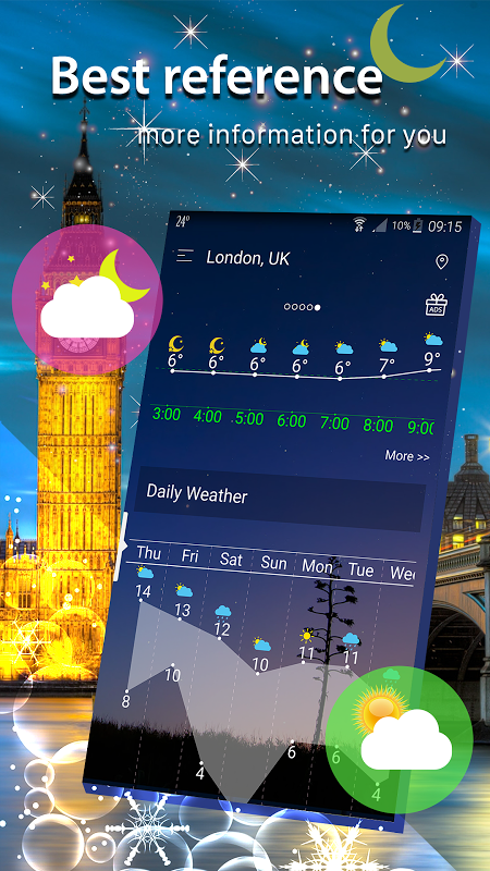 Android Weather radar Screen 3