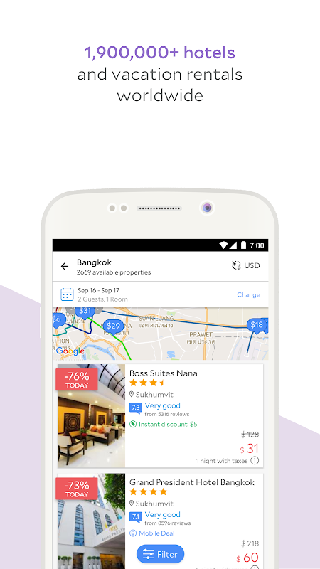 Android Agoda – Hotel Booking Deals Screen 1