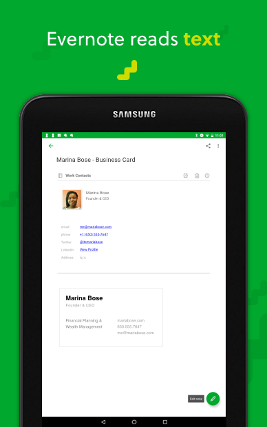 Android Evernote - stay organized. Screen 16