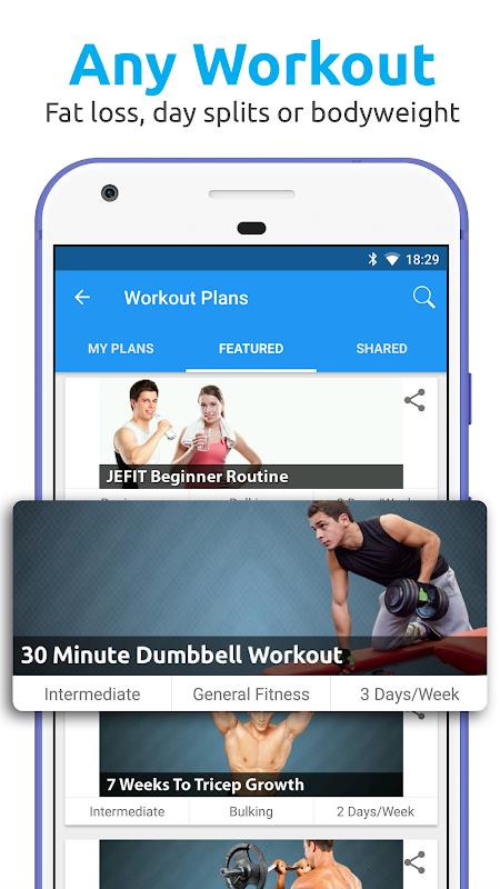JEFIT Workout Tracker, Weight Lifting, Gym Log App 10.13 Screen 1