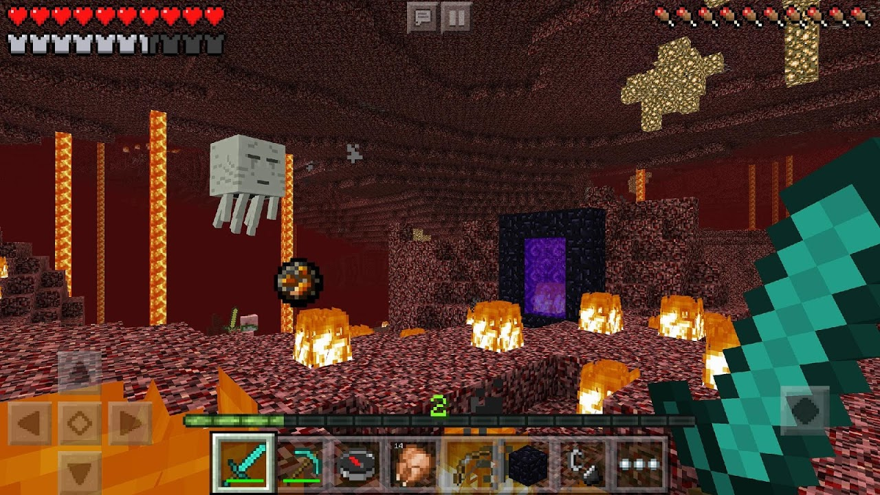 Android Minecraft Trial Screen 1