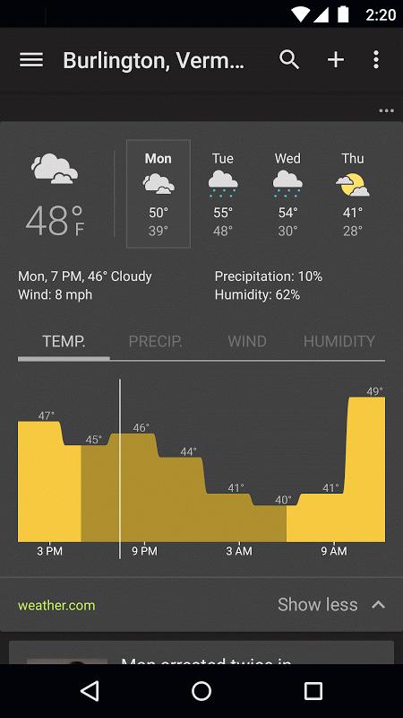 Google News & Weather 2.8.5 (136063537) Screen 4
