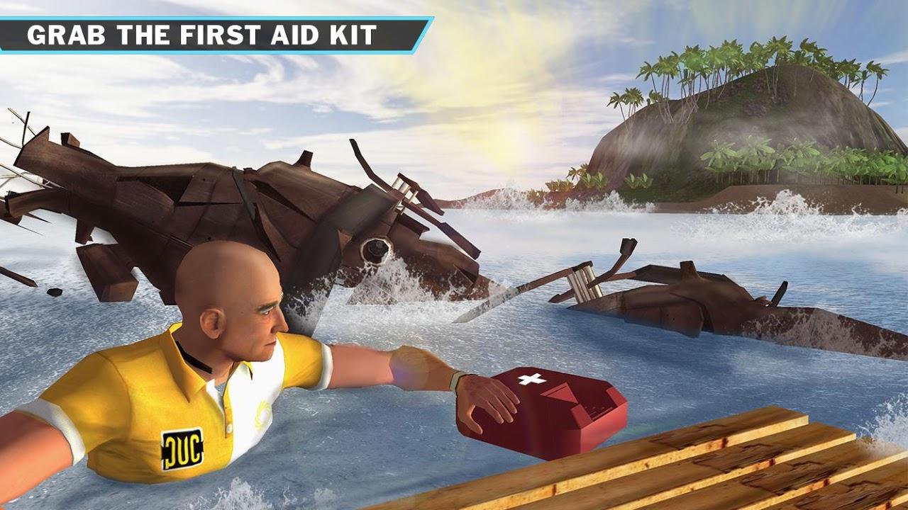 Android Ocean Raft Survival Simulator Screen 2