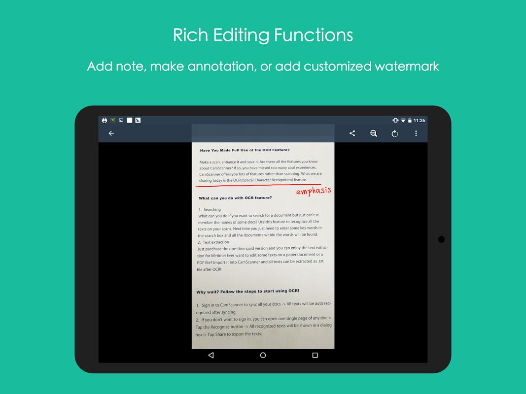 Android CamScanner -Phone PDF Creator Screen 10