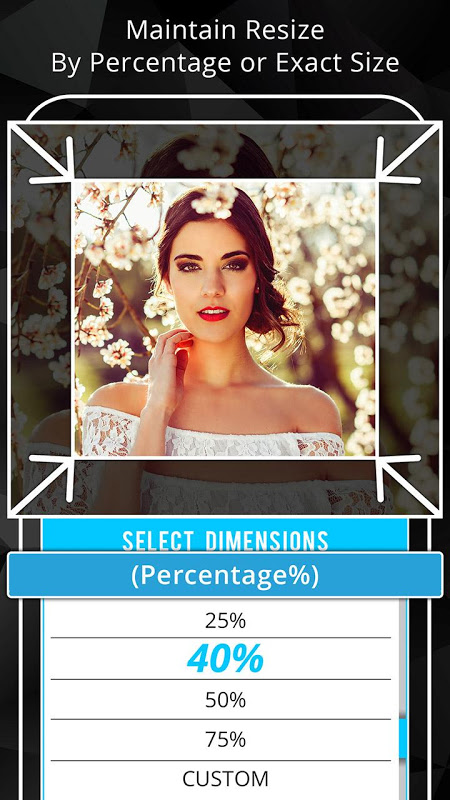 Android Photo Resizer: Crop, Resize, Share Images in Batch Screen 1