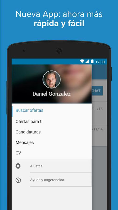 Android InfoJobs - Job Search Screen 1