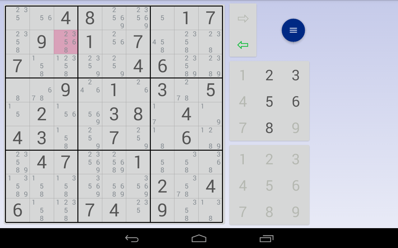 Sudoku: 3 in 1 1.7.3 Screen 1
