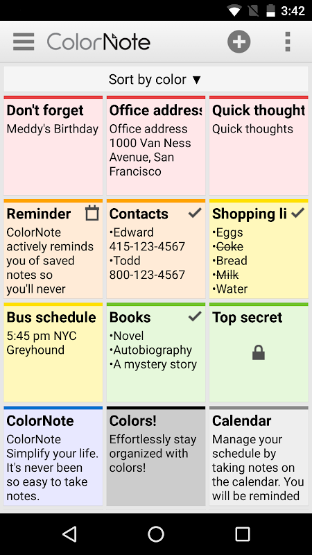 ColorNote Notepad Notes To do 4.0.7 Screen 7