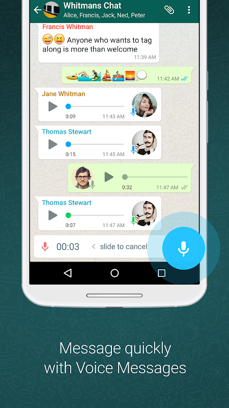 WhatsApp Messenger 2.19.222 Screen 3