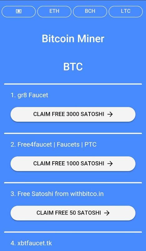 Free Bitcoin Miner APKs   Android APK