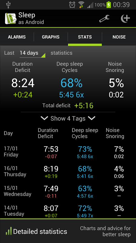 Sleep as Android 20130901-fullad Screen 5