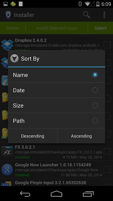 Installer Pro 3.4.2 Screen 2