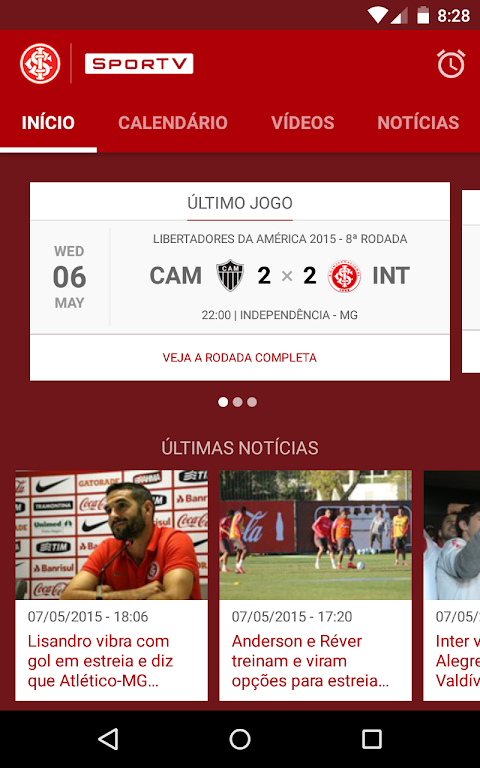 Android Internacional SporTV Screen 1