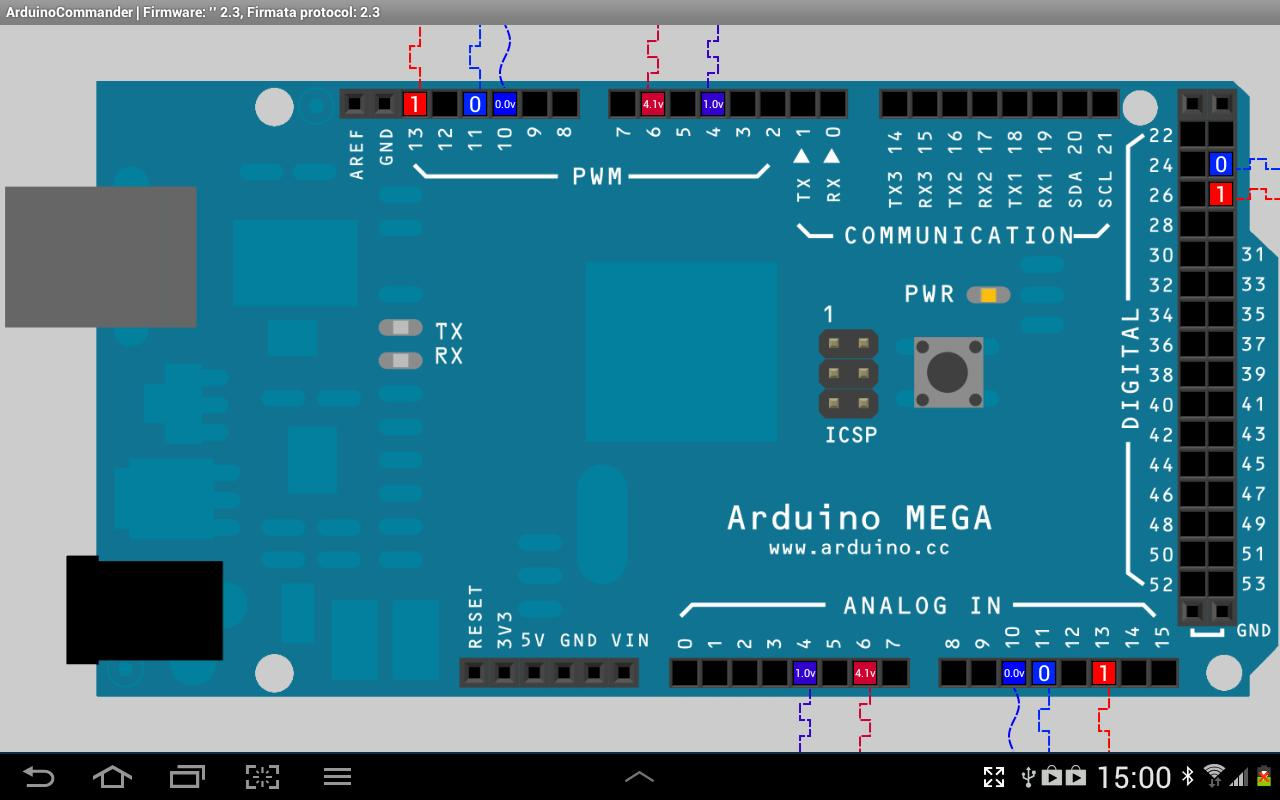 Android ArduinoCommander Screen 1