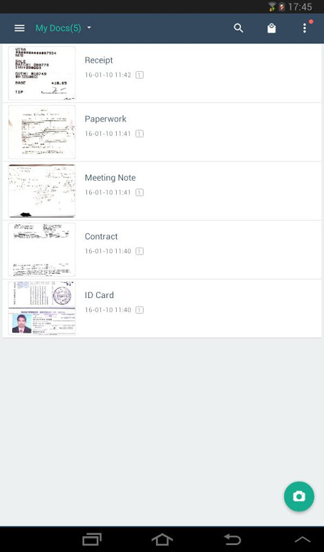 Android CamScanner -Phone PDF Creator Screen 13