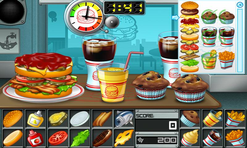 Android Burger Screen 5