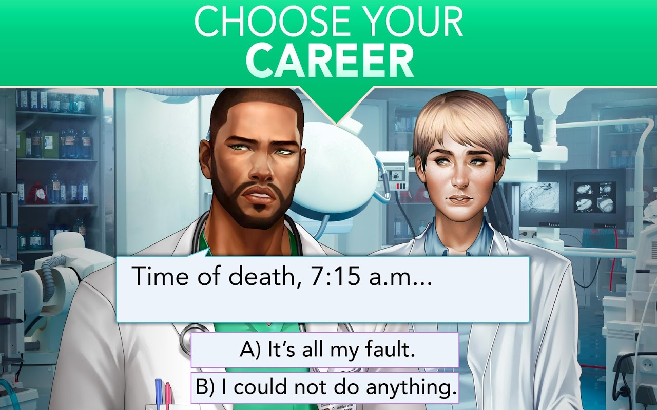 Android Is it Love? Blue Swan Hospital - Choose your story Screen 10