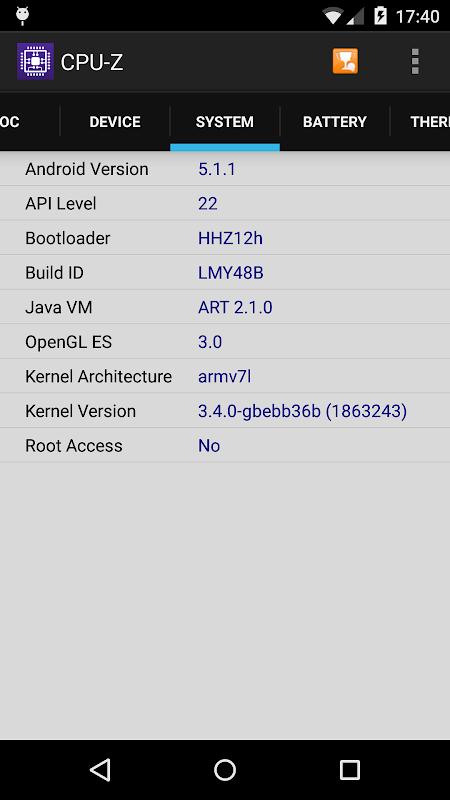 CPU-Z 1.32 Screen 2