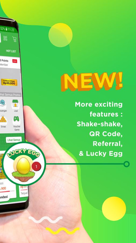 Android Tokopedia - Online Shopping & Mobile Recharge Screen 1