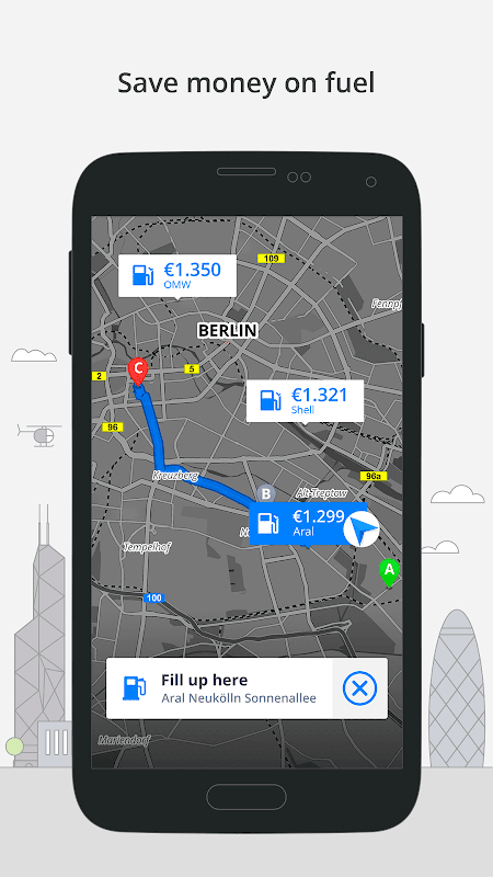Android GPS Navigation & Maps Sygic Screen 7