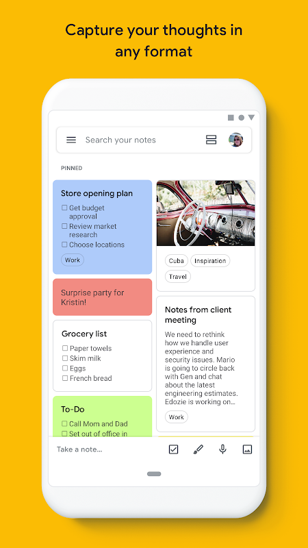 Google Keep - Notes and Lists 5.19.131.03.40 Screen 5