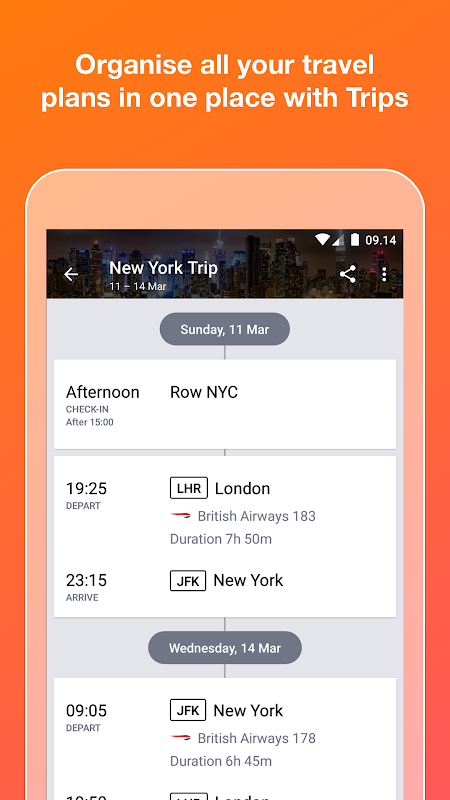 KAYAK flights, hotels & cars 73.1 Screen 3