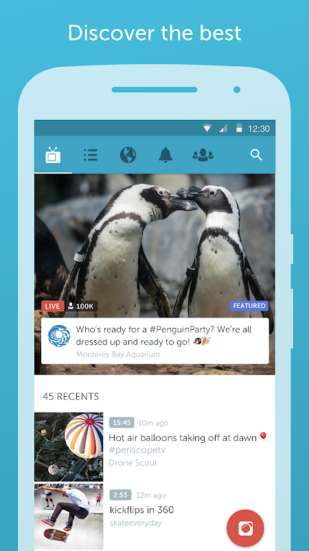 Android Periscope - Live Video Screen 2