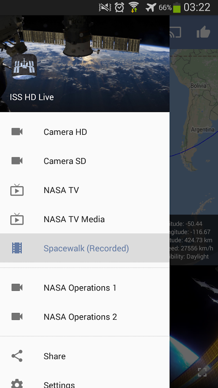 ISS HD Live: View Earth Live 5.1.1 Screen 23