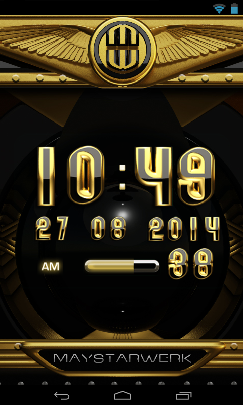 Android Gold Snake Clock widget Screen 3