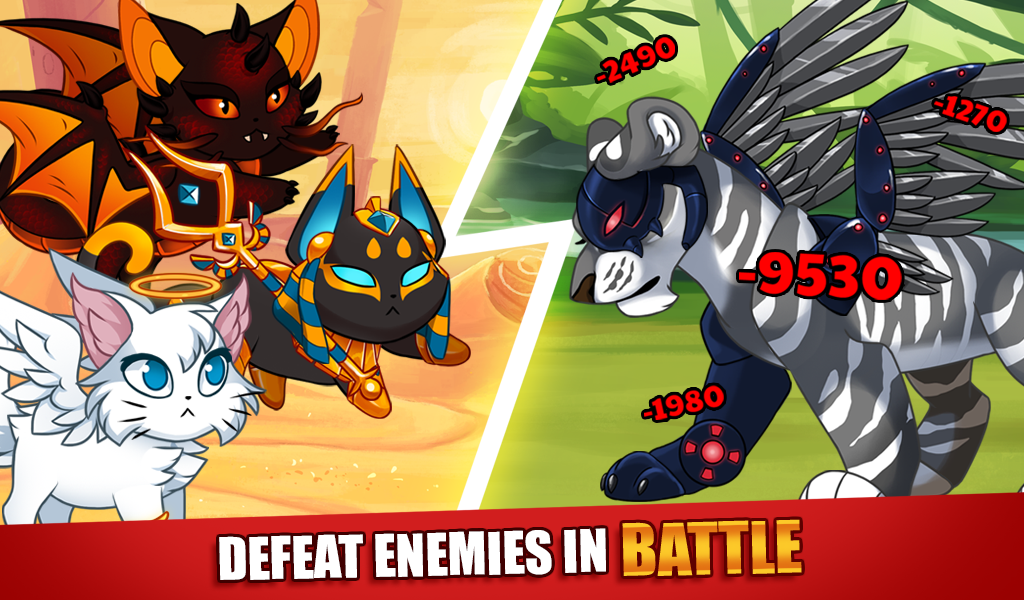 Android Castle Cats: Epic Story Quests Screen 1