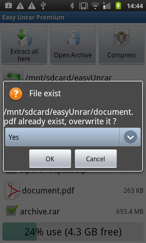 Easy Unrar, Unzip & Zip 3.4 Screen 4
