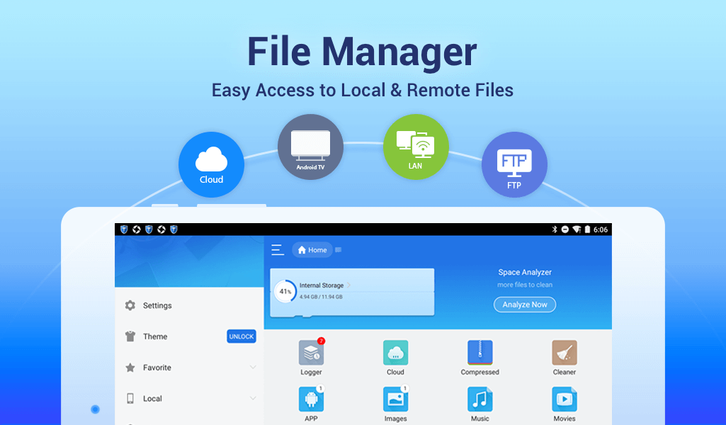 ES File Explorer/Manager PRO 4.1.7.1.28 Screen 1