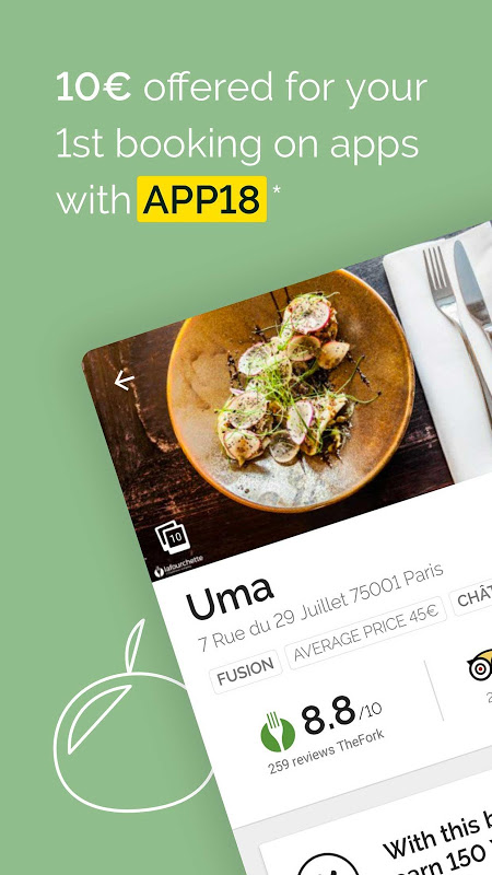Android TheFork - Restaurants booking and special offers Screen 8