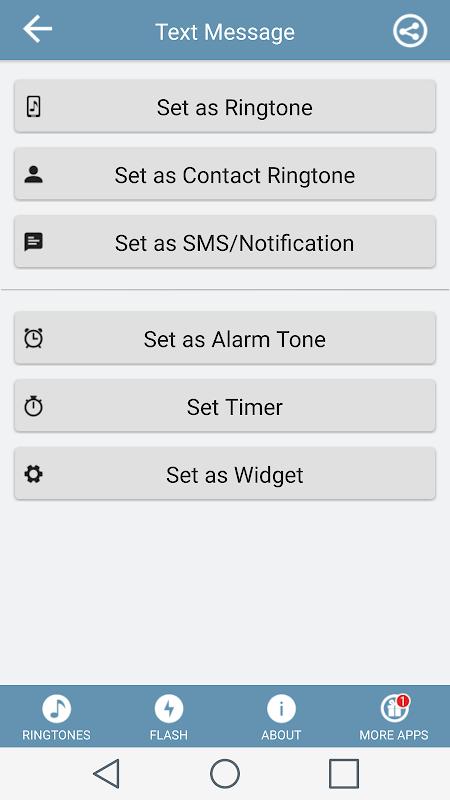 Text Message Tones 2.8.0 Screen 1