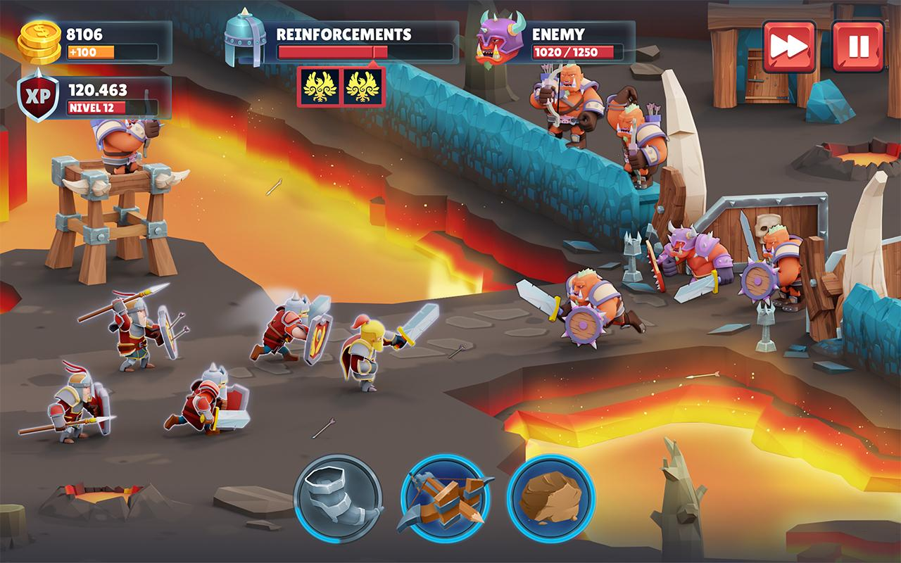 Android Game of Warriors Screen 2