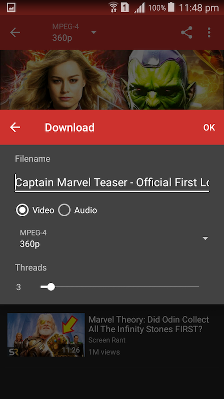Android YouTube Video Downloader YTD Screen 4