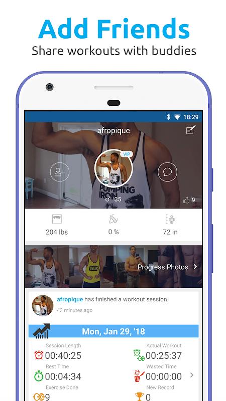 JEFIT Workout Tracker, Weight Lifting, Gym Log App 10.13 Screen 4