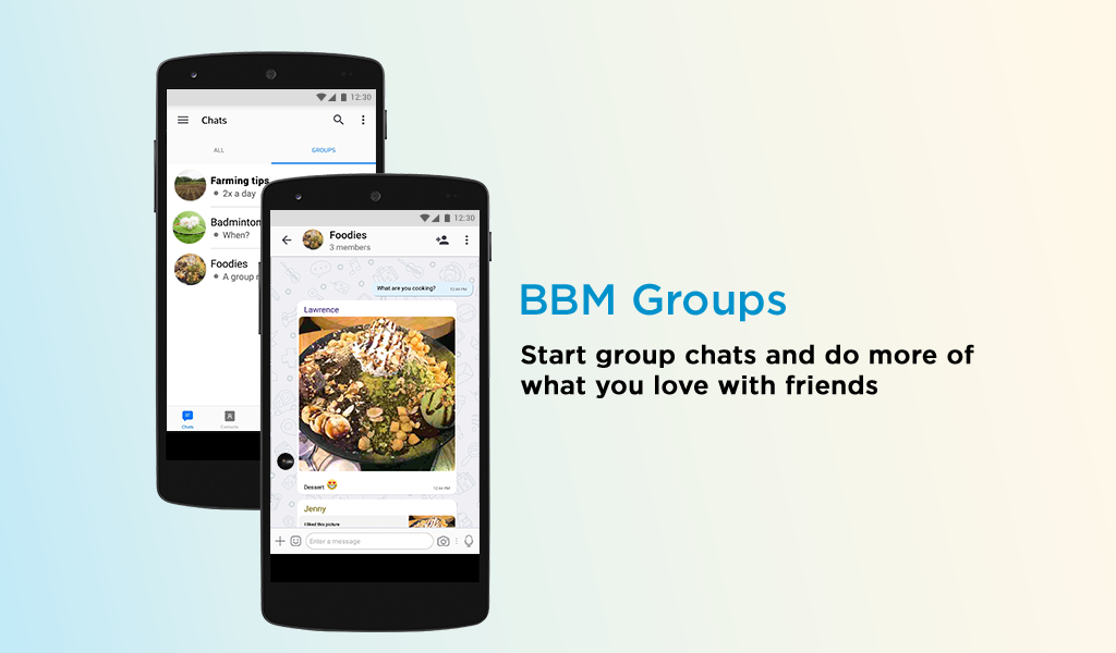 Android BBM - Free Calls & Messages Screen 2