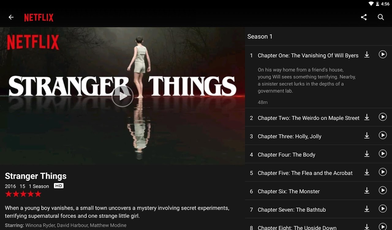 Netflix 6.6.1 build 28551 Screen 6