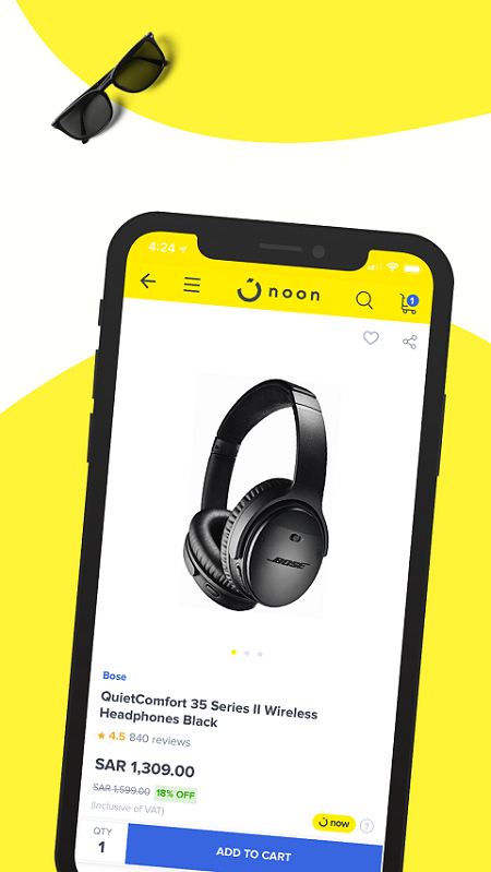 Android noon shopping Screen 2