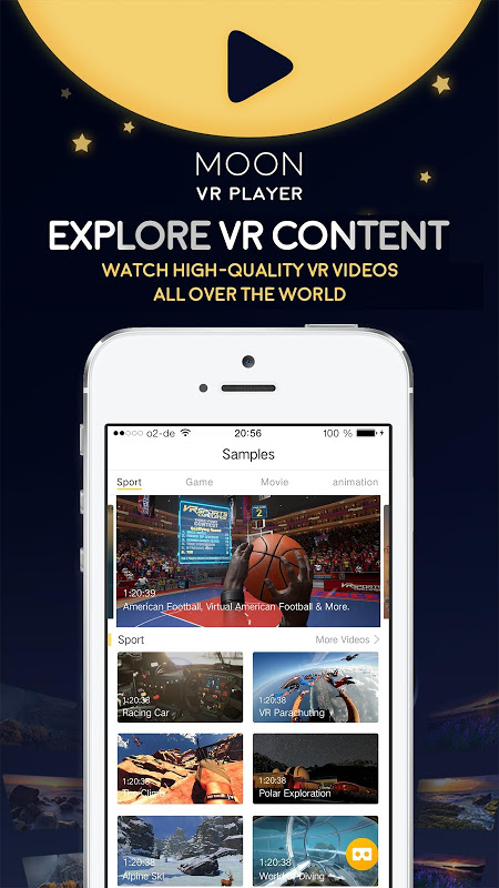 Moon VR Player Pro 2.5.0 Screen 2