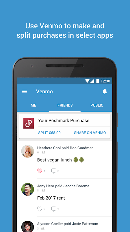 Android Venmo: Send & Receive Money Screen 4