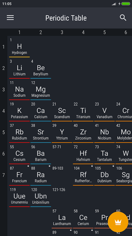 Android Periodic Table 2018 Screen 7