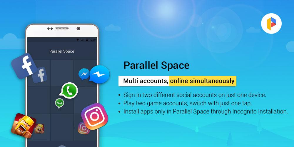 Parallel Space - Multiple accounts & Two face 4.0.8849 Screen 1
