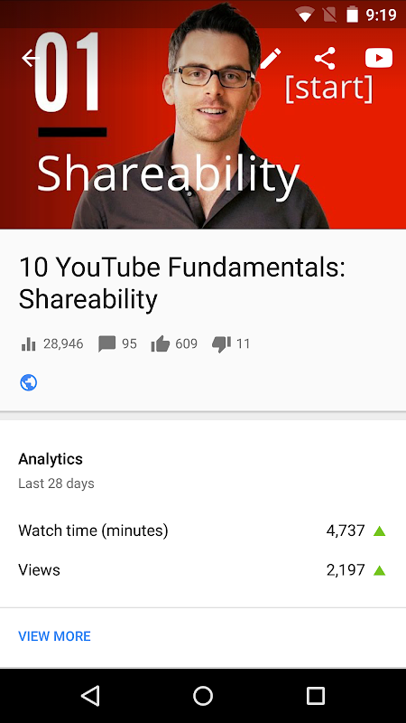 YouTube Studio 18.48.100 Screen 3