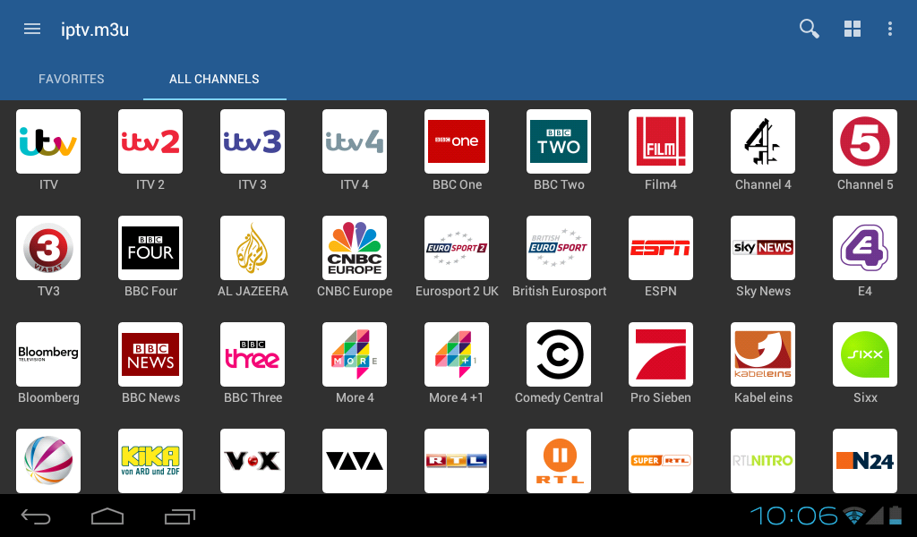 Android IPTV Screen 2