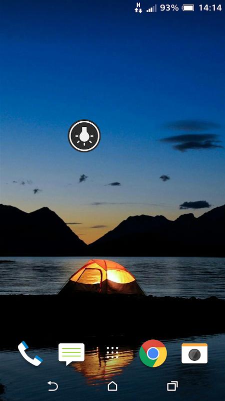 Android Flashlight Widget - Original Screen 2
