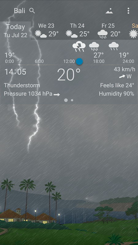 Precise Weather YoWindow 1.33.17 Screen 3